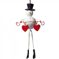 LEA 055 Snowman with hearts