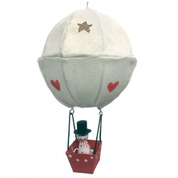 NEW LEA216 Snowman in hot air balloon