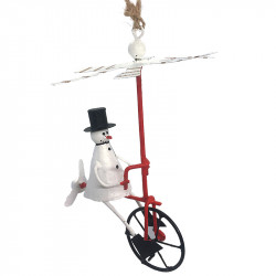 NEW LEA171 KINGSIZE Snowman on air bike