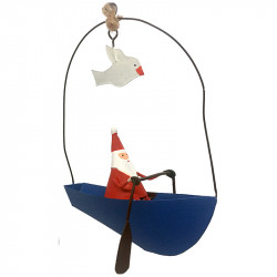 NEW LEA175 Santa in a boat with a seagull
